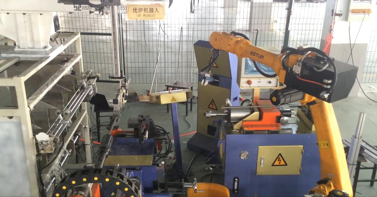 ESTUN機器人彎管機焊縫檢測自動