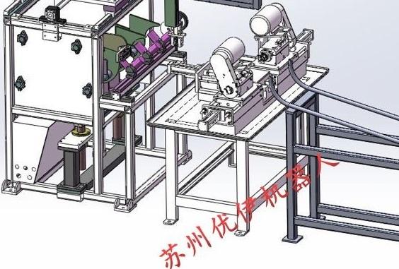 雙頭沖弧機實現自動上料和下料