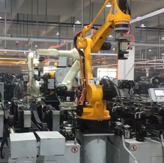 扶手管機器人自動彎管沖孔生產線視頻