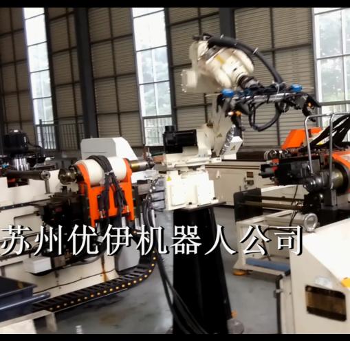 背架管自動切管彎管機器人生產線