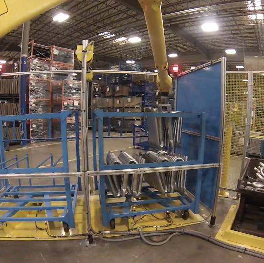 國外機器人彎管機自動化工作站視頻