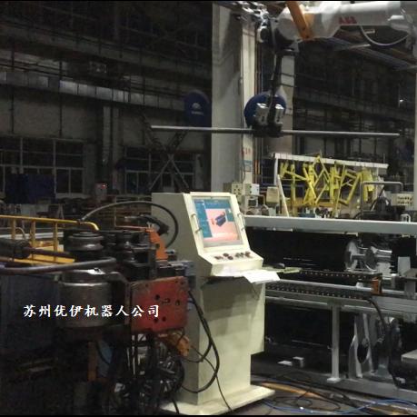 臺灣穎霖彎管機配ABB機器人組自動線視頻