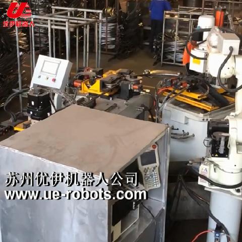 蹦床圓弧管機器人自動生產線視頻(圓管)