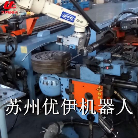 臺灣和和彎管機與OTC機器人組線視頻