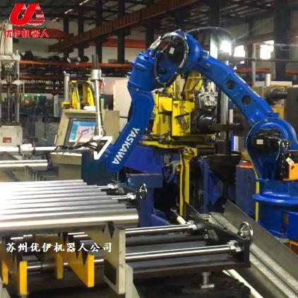 臺灣穎霖彎管機與安川機器人組生產線視頻