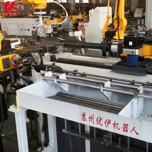 合豐機械彎管機配國產機器人頭枕桿生產視頻