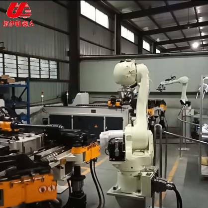 川崎機器人汽車頭枕桿自動生產線