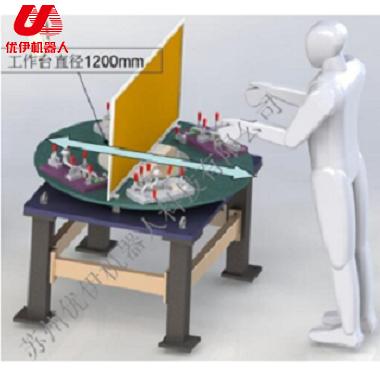 焊接機器人水平回轉臺變位機(三軸)