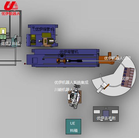 蹦床圓弧管機器人自動生產線(圓管)