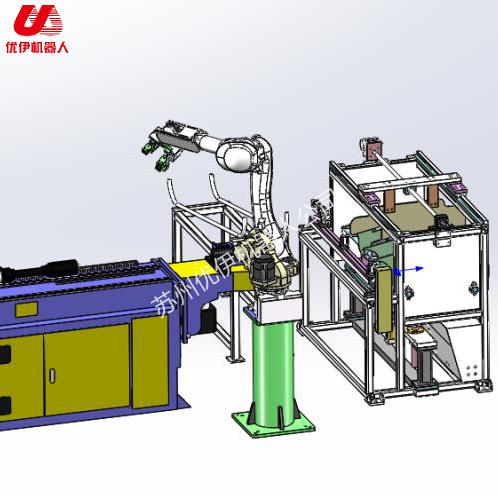 汽車頭枕桿機器人自動生產線(經濟型)