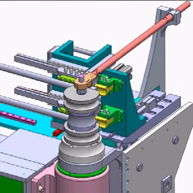 彎管機3D設計動漫視頻